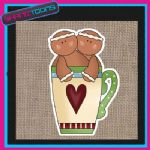 GINGERBREAD MAN MEN JUTE SHOPPING LADIES GIFT BAG 001